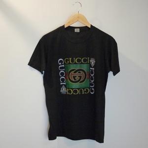 """GUCCI Bootleg 1980's T-Shirt SizeM,L """"Black,Dead Stock"""""""