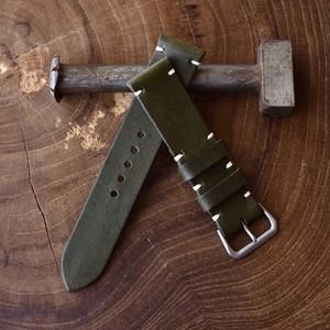 "22mm-140【今秋販売予定】2peace strap ""Kharki"" 22mm-20mmテーパー"