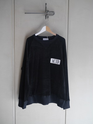 BLACK WEIRDOS / Velor Crewneck Sweatshirt