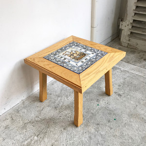 Tile Top Square Side Table 1960's オランダ