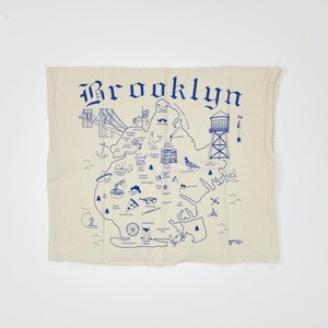 MAP TOTE / Tea Towel Brooklyn