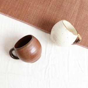 【SET-0028】磁器 タルマグカップ・セット チョコブラウン×アイボリー
