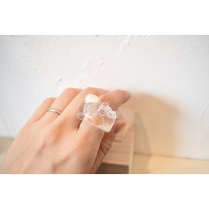 sushikatten/Double Pearl  Glass Ring