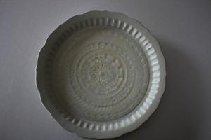マルヤマウエア|三島リム皿8寸B