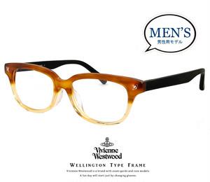 ヴィヴィアン ウエストウッド vw9001 ly メンズ 眼鏡 メガネ Vivienne Westwood  ライト ブラウン イエロー vw-9001