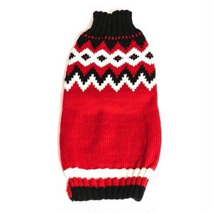 CHILLY DOG(チリードッック) Red Fairisle
