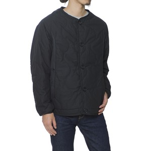 PRIMALOFT QUILTED NO COLLAR BLOUSON - BLACK
