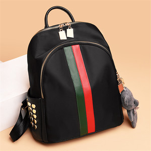【bag】stripe fashion casual travel simple soft new backpack