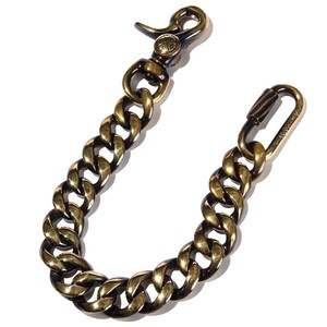 OUTSIDERS WALLET CHAIN (GOLD) / RUDE GALLERY BLACK REBEL