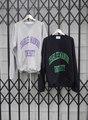 BLACK WEIRDOS / Crew Neck Sweatshirt  (Heather gray / Black )