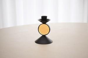 Ystad metall candle holder amber-yellow(Gunnar Ander)