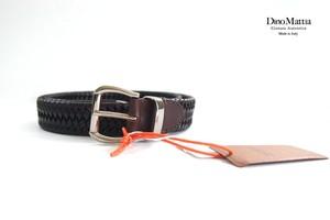 ディノマッティア|Dino Mattia|レザーメッシュベルト|85|ブラウン