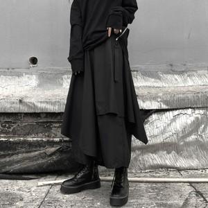 【ボトムス】暗黒ゆったりストリートカジュアルパンツ34370143