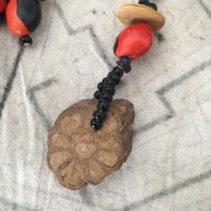 キーホルダー アヤワスカ蔓とワイルーロのキーホルダー 木の実のアクセサリー