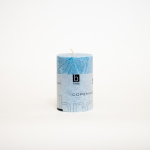 crystal piller candle aqua (outlet)