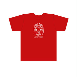 クハ711  キッズTシャツ レッド