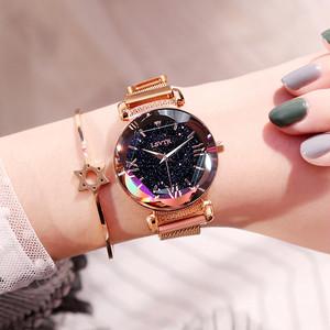 【小物】大人気韓国風簡約・シンプル星空腕時計みんなの目を引く