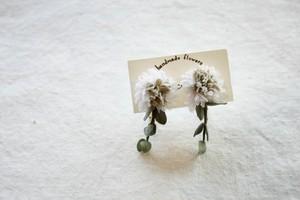 【kotoriko】シロツメクサのイヤリング