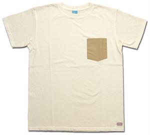 Good On×SIERRA DESIGNS 60/40 POCKET SS TEE グッドオン×シエラデザインズ ポケットTシャツ P-NATURAL ナチュラル カットソー COTTONUSA MadeinUSA SIER2001