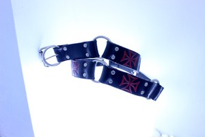 cross design belt