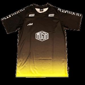 Hex Logo Gradation Shirts (MHS-2009 BLK×YEL)
