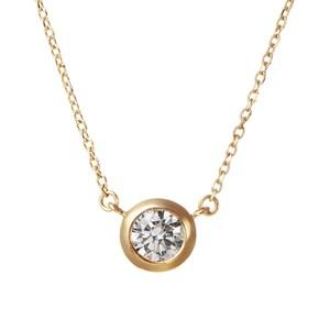 K18YGダイヤモンドネックレス 020201009215