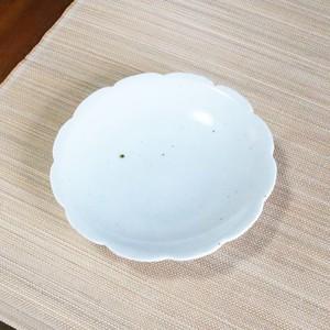 砥部焼 5寸花形型打ち皿
