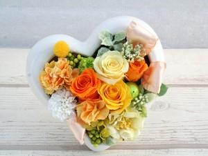 ~FLOWER GIFT~ 母の日♪♪2WAYタイプイエロー・オレンジローズハートアレンジ