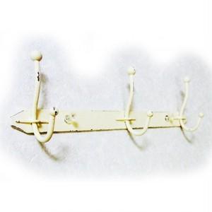 ヴィーユ アイアン3連フック アイボリーホワイト 718447wh-1707