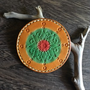 mandala mirror #orange gradation