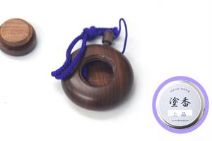 塗香入れ(紫檀)+塗香(普及品) セット