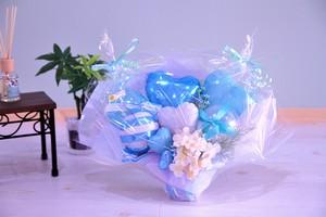 結婚式やお誕生日のお祝いに卓上バルーンギフトQ(バルーンアレンジ) 送料込み 引き取りの場合5,800円