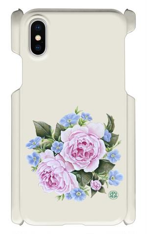 iPhoneX ピンクローズとミリオンベルのスマホケース