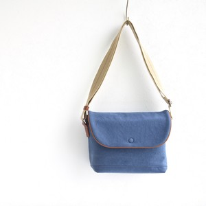 CANVAS FLAP SHOULDER S / RAIN BLUE