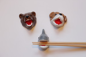 箸置き(クマ・犬・サメ)