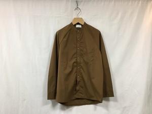 "FLISTFIA""Long Sleeve Henley Shirt Brown"""