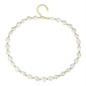 semi baroque pearl necklace