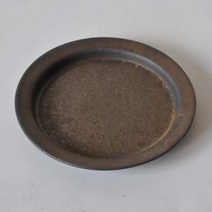 鈴木史子 7.5寸リム皿 黒(017)