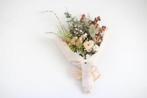 花とお家じかん かすみ草とスターチスの布ブーケ 2