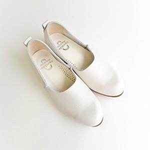 レザーフラットシューズ(White)art.352-61373 /ramble dance