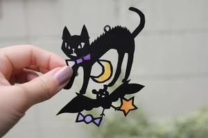 HELLOWEENの怒りネコと魔女の図案