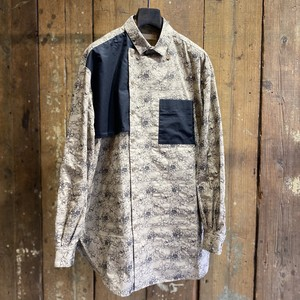 meagratia メアグラーティア / flower embroidery trench shirt