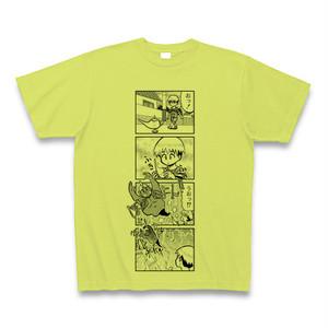 オリジナル4コマ漫画イラストTシャツ ①ライトグリーン