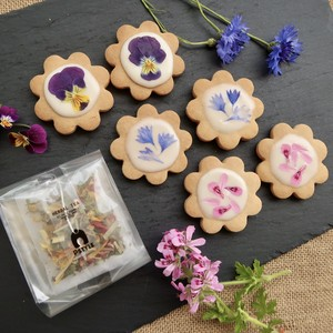 EDIBLE FLOWER COOKIES(シュガーアイシング) & HERBAL TEA SET