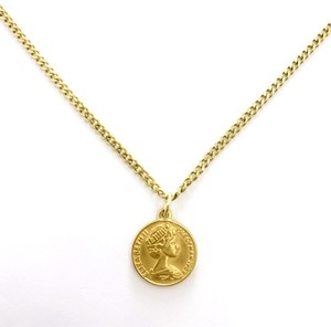 Miami Chain 3mm × Coin Necklace 【GOLD】