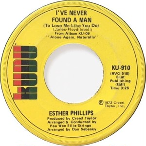 Esther Phillips – I've Never Found A Man / Cherry Red