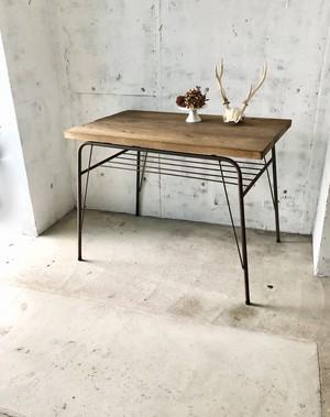 古材×鉄脚のテーブル[古家具]