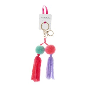 G1377B Mexicana Pom Pom Bag Charm - Bright