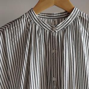 Select Item / Stripe Cotton Dress # White / ストライプ コットン ドレス
