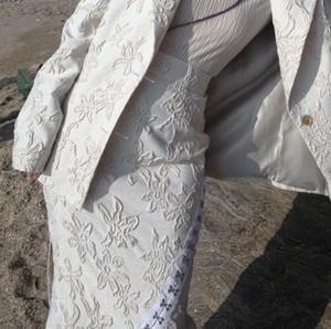 White jacquard skirt